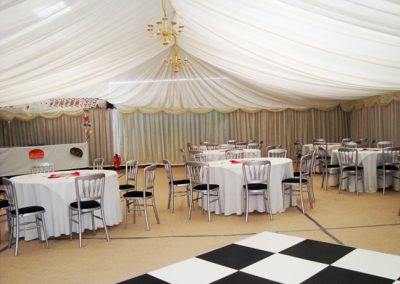 marquee hire dance party