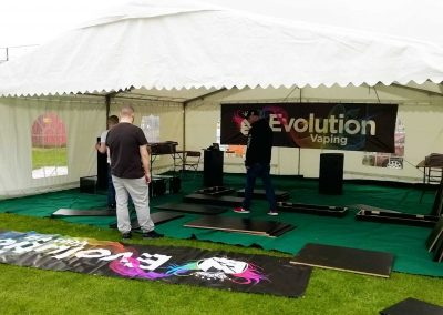 music event marquees for festivals
